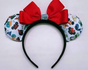 Hats Off to Disney Ears, Minnie Mouse Ears, Custom Minnie Ears