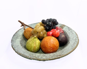Antique Hand Painted Alabaster Fruit