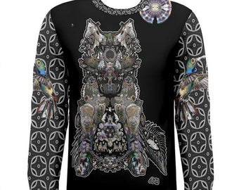 Dire Wolf, (All over print) Long Sleeve Tee