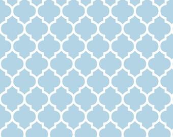 Shannon Fabrics Baby Blue Quatrefoil Minky Cuddle, blue and Snow minky, quatrefoil minky, Shannon blue, Shannon Boy Minky