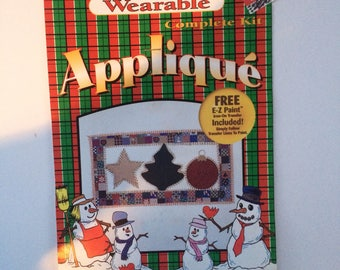 Vintage Holiday Wearable Iron-On Applique Kit, by Stan Rising Christmas Ornaments