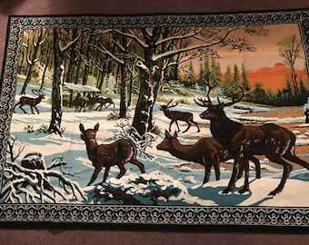 Deer Tapestry Wall Hanging