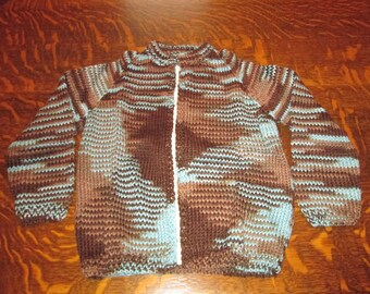 hand knitted children's sweater size 8