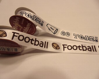 2 rolls 1 football and 1 go team ribbon ( A2)