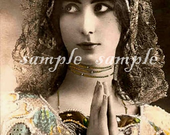 no518 VINTAGE photo DIGITAL DOWNLOAD - Printable - Antique Photograph - Victorian Beautiful Woman