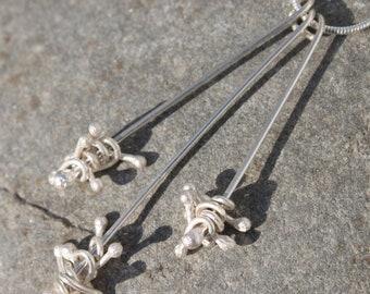 """Set of 3 Long Silver """"Jack"""" Pendants"""