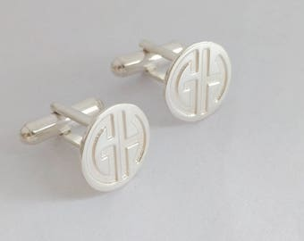 Wedding Cufflinks, Groomsmen Cufflinks, Personalized Cufflinks Groom, Engraved Cufflinks, Monogram CuffLinks, Cuff links Custom