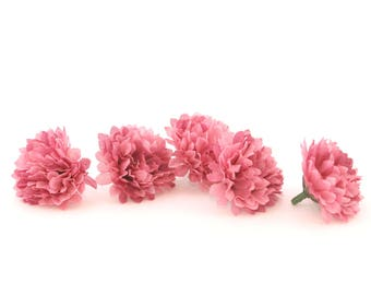 Mauve Pink Carnations - 25 count - Artificial Flowers, Silk Flowers