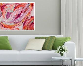 Original Acrylic Abstract Painting: Beginnings 16x20