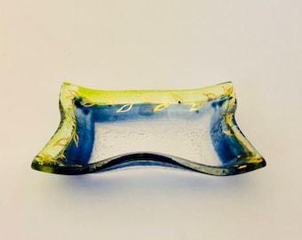 Butter dish - Desk organizer - Ring dish - Soap dish - Teabag holder - Tea bag holder - Ring holder - Earrings holder - Trinket dish
