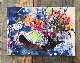 Abstract Painting Art Print 5 x 7 Postcard