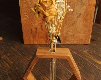 Hexagon Single Stem Vase