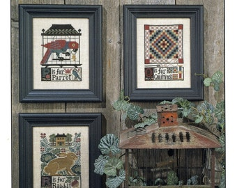 P*Q*R by Prairie Schooler Counted Cross Stitch Pattern/Chart