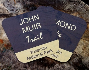 Table Numbers -- Printable National Park Wedding Table Name Cards, Rustic Table Numbers PDF