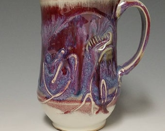 Handmade wheel thrown ceramic mug #1133