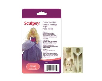 Sculpey Flexible Push Mold WOMAN or MERMAID DOLL Polymer Clay Dolls Making Oven Bake Clay