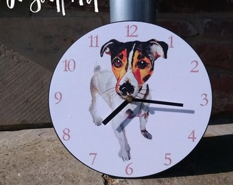 Jack Russell Terrier Clock by Jo Scott
