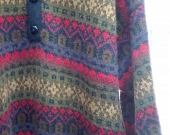 handmade alpaca pullover