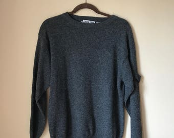 Vintage Tarrazzia Gray Slouchy Boyfriend Sweater Medium