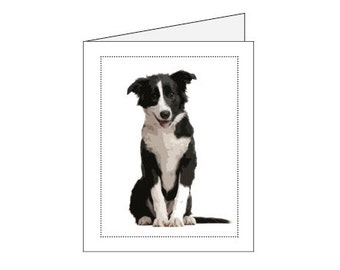 Border Collie Notecards & envelopes  FREE SHIPPING!