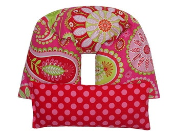 UNSCENTED heating pad Therapeutic Neck & Shoulder Wrap Eye Pillow Set Hot Cold Therapy Pack Flaxseed (Gypsy Paisley Hot Pink) Michael Miller