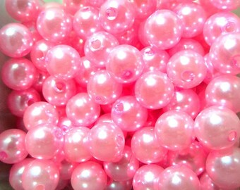 54 Deep pink acrylic beads