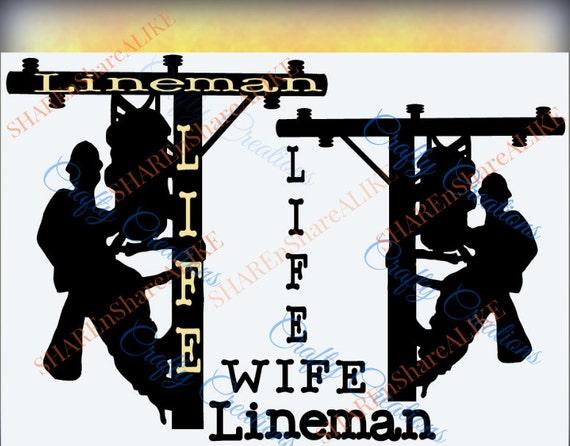 Lineman Svg Life Worker Husband Wife Silhouette Letter Font