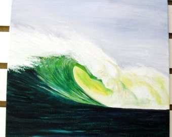 BIG wave surfing TRES PALMAS  Rincon Puerto Rico - Beach Decor - Coastal Decor - Free Shipping in U. S