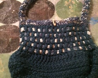 Crochet  Purse - Blue