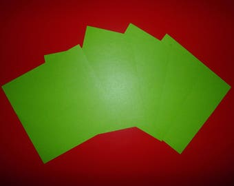 set of 5 cm sapin15x15 Green Apple/green origami paper