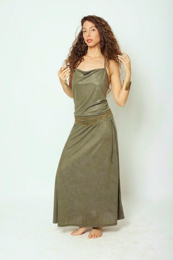 Dress Dress Prom Backless Green Clothing Dress Maxi Women's Dress Evening Bohemian Bohemian Maxi Of7UTq