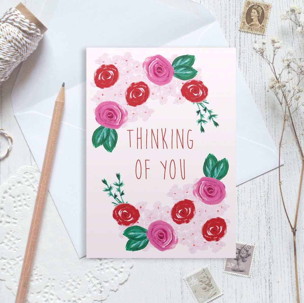 Thinking Of You Card Sympathy Card Good Luck Card Greetings