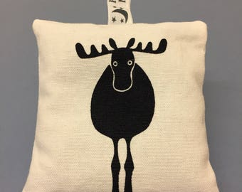 Lavender Bag Cream & Black Moose fabric - Lavender Bags - Cream Moose Fabric - Lavender Cushion - Scent Bag- Pair of Lavender Bags
