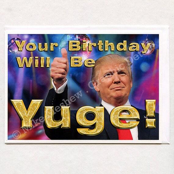 Amazon Com Funny Birthday Card Donald Trump Birthday: Items Similar To Donald Trump, Funny Birthday Card, Funny