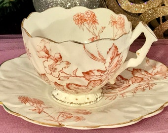 Pretty in Pink-Vintage Numbered Teacup and Saucer