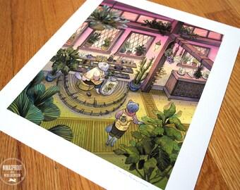 Feline Florists - Fine Art Print by Nicole Gustafsson