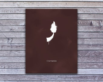 "Minimalist Charmander (24"" x 30"") - Canvas Wrap Print"