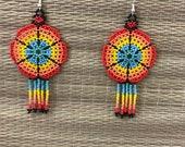Maya earrings / aretes Ma...