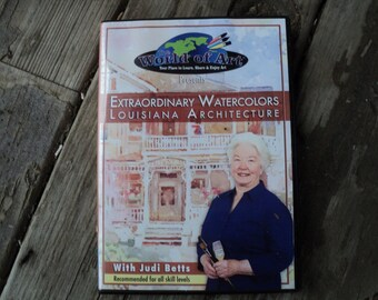 Extraordinary watercolors Louisiana architecture with Judi Betts art education