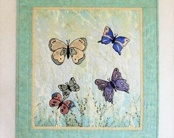 Butterflies in the Garden Wall Hanging