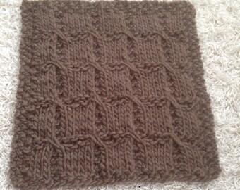 Newborn knit mini blanket in Roving