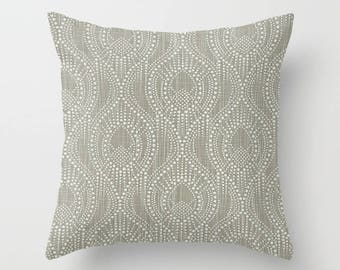 Gray Pillow Cover Scroll Pillow Throw Pillow Decorative Pillow Size Choice