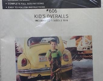 Macphee Pattern 606 Kids Overalls Pattern Size 2-6 Unique Pattern #606 Kids Overall Kids Size 2 to 6