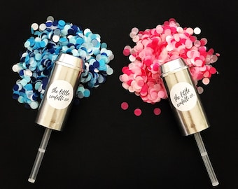 Silver Gender Reveal Tissue Paper Confetti Popper