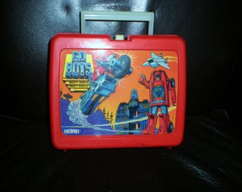 Vintage Go Bots Thermos Lunchbox