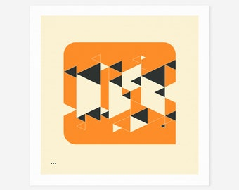 SYSTEMS 8 (Giclée Fine Art Print/Photo Print/Poster Print) Minimal Geometric Abstract Art