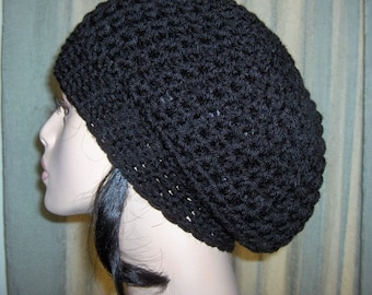 Womens Slouchy Tam Hat Black Womens Slouchy Hat Tam Black