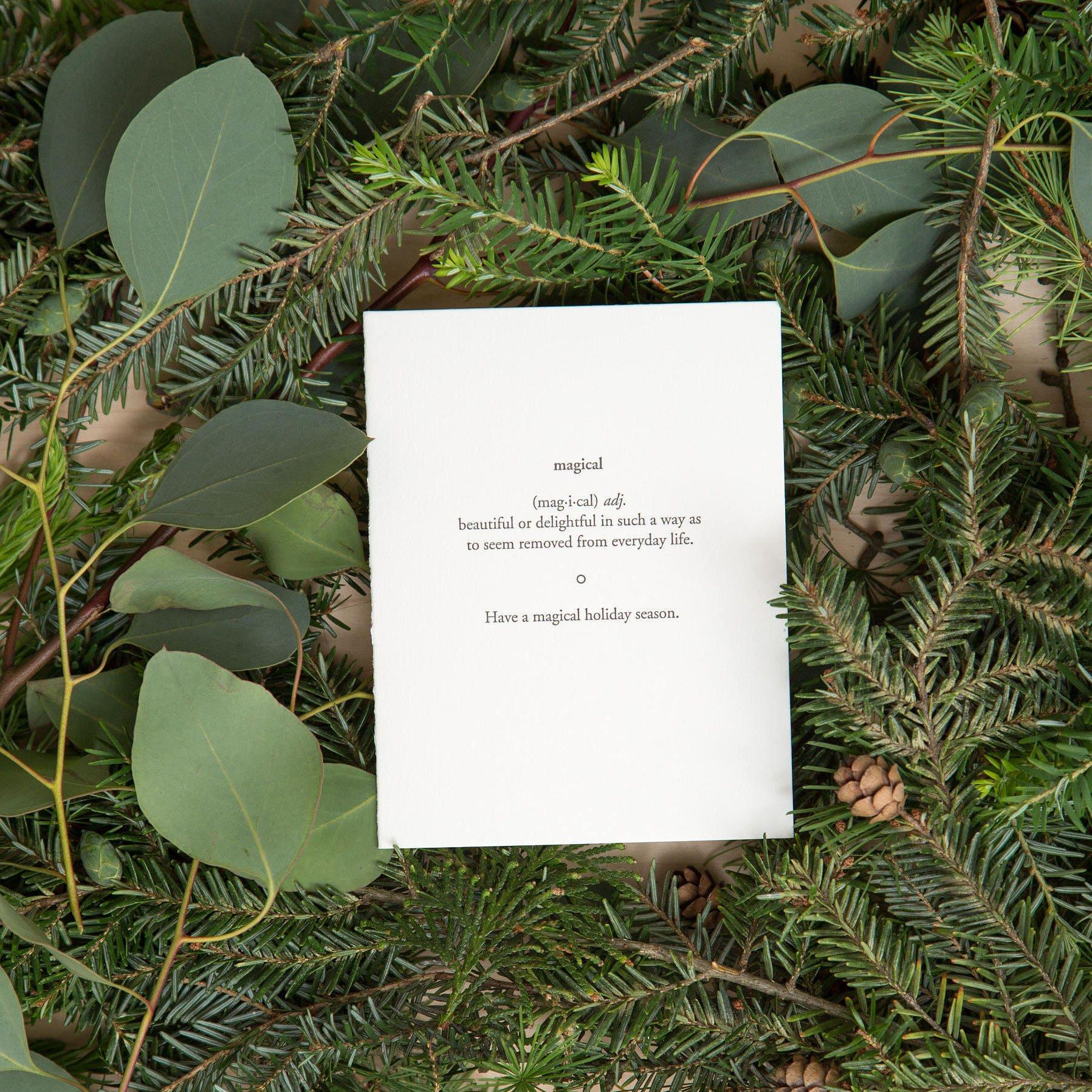 Magical Seasons Greetings Happy Holiday Cards