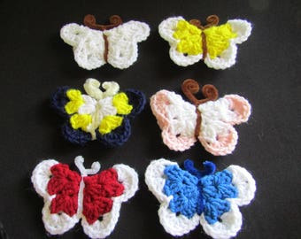 Fridge Magnet Handmade Crochet Butterfly Refrigerator Kitchen Animal Gift