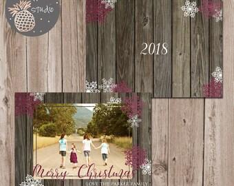 Printable Christmas Card, Holiday Family Card, Photo Christmas Card